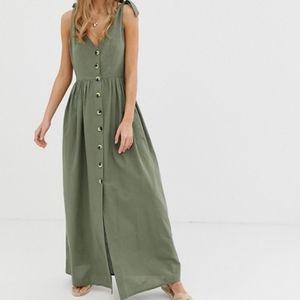 16 ASOS Design Button Through Smock Maxi Dress